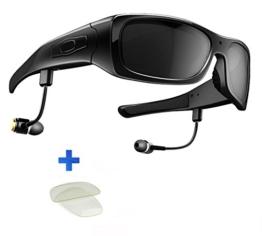 DCCN Spion Kamera Bluetooth Brille mit UV400 Sonnenbrille fuer Radfahren mit allen Handy kompatibel (Bluetooth hat) - 1